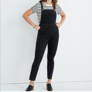 Madewell Skinny Black Overalls
